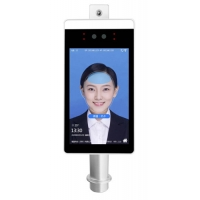 Quality Face Recognition 1280 X 960 Thermal Floor Standing Temperature Scanner for sale