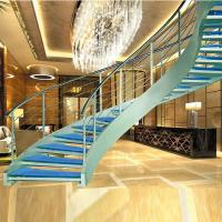Quality Luxury curved glass staircase for sale for sale