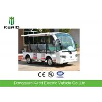 Quality 3 Rows Safa Seats Small Electric Shuttle Bus With MP3 Player Alloy Rim For Hotel for sale