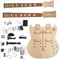 Buy Polished Body DIY Electric Guitar Kits Double Head / Neck Electric Guitar AG-DN1 at wholesale prices