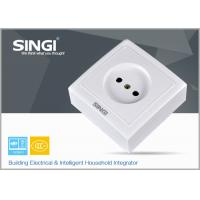 Quality Europe Standard Wall Mounted Socket for home , office , school 84x82mm for sale