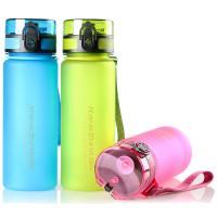 Buy 650mL/22oz Hot Sale Tritan Plastic Water Bottle with Tea Infuser Filter 1-Click Open Lid Frosted Surface at wholesale prices