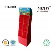 Quality Big Promotion Red DVD Player Custom Cardboard Displays With Mulit Pockets for sale