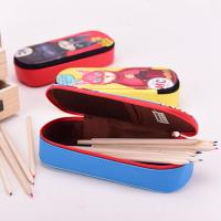 Quality Lining 210 D Student Pencil Pouches Kids , Double Sided Pencil Case / Pencil Box for sale