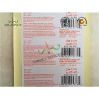 Quality Custom Printed Labels With UPC Barcode Strong Adhesive For Clothes Packing for sale
