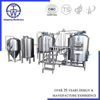 China German Style Craft Beer Brewing Equipment With Fermentation Tanks And Hot Water Tank on sale