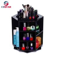 Buy cheap Hexagon shaped rotate fancy makeup organizer tower carousel plastic cosmetic spinning organizer from wholesalers