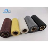 Quality PVC Coated Fire resistant Black color Fiberglass Mosquito Mesh For Preventing for sale