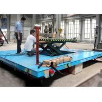 Buy cheap Rail mounted oil hydraulic diven scissor lift trolley with operation platform from wholesalers