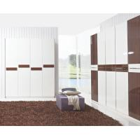 Quality Hotel Interior Design by project Furniture in-wall Wardrobe cabinet high glossy melamine for sale