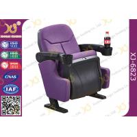 Quality Indoor Theater Auditorium Movie Theater Chairs Stadium Seating With Cup Holder for sale