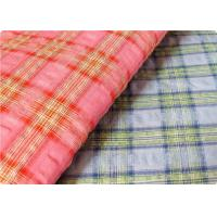 Quality Comfortable Yarn Dyed Cotton Seersucker Fabric Cloth For Umbrella for sale