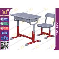 Quality Iron Structure Primary Student Kids School Table And Chairs With Non Slip Feet for sale