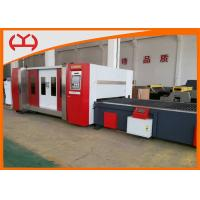 Quality 2000W Metal Fiber Laser Cutting Machine With Canopy / Auto Exchange Table for sale