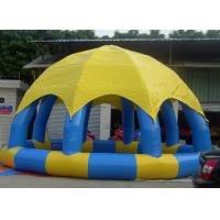 Quality Portable 8m Dia Inflatable Water Pool With Cover Above Ground Blow Up Pools for sale