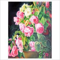 Quality flower painting wall art decor print oil painting for sale