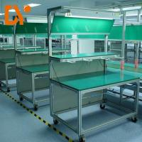 Quality Assemble Line Electronic Workstation Bench Custom Size Cold Pressing / Rolling for sale