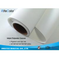 "Quality 280gsm 24 "" Printable Waterproof Polyester Canvas Rolls for Inkjet Plotter for sale"