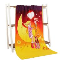 Quality Personized moonlight printed velvet beach towels for the sweet lover for sale
