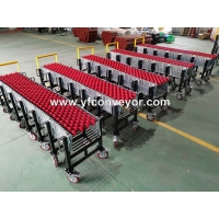 China Expandable Gravity Plastic Skate Wheel Conveyors for warehouse/airport/dock on sale