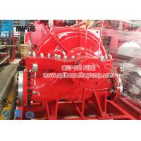 Quality Horizontal Centrifugal Split Case Fire Pump Set 1000 Gpm With Engine , Low Noise for sale