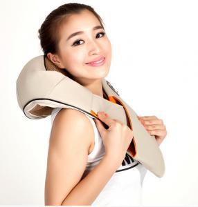 Buy cheap Beige / Brown / Orange Neck Shoulder Massage , Shiatsu PU Effective kneading from wholesalers