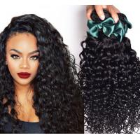Quality Soft Elegant Loose Wave / Kinky Curl European Human Hair Weave 8 Inch - 40 Inch for sale