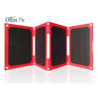 Buy Easy Carry Solar Charger Bag 4 Fold Red Mobile Photovoltaic Charging Device at wholesale prices