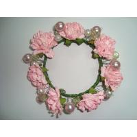 Quality Pink Rose Artificial Decorative Flowers Christmas Garlands and Wreaths for Wedding for sale