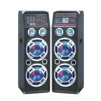 Quality Double 10 Inch Bluetooth Portable Speaker PA System With Wireless Microphone for sale
