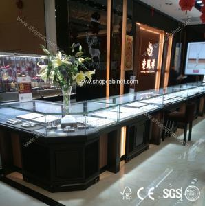 Quality Floor rotative Jewelry Showcase with Locking Storage Drawer for sale