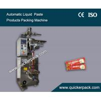 China Fully Automatic Three Sides Seal Bag Liquid Tomato Ketchup Packaging Machine on sale