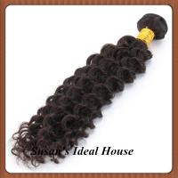 China Deep Wave Hair Weaving Extension Cuticle Remy Virgin Indian Hair Wavy extension on sale