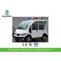 Quality Pure White 4 Seats Electric Patrol Car With Rear Mini Cargo Box for sale