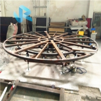 Quality 1*1m 1.1kw Revolving Rotating Stage Car Turntable Lift for sale
