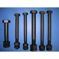 Quality Black Painted Low Carbon Steel Bolts DIN 931 High Strength For Sealing for sale