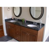 Quality Black Color Natural Marble Vanity Countertops With Single Sink for sale