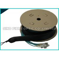 Quality Pulling Eye 24 Strand Multimode Fiber Optic Cable Pre Terminated LC Duplex Fanout for sale