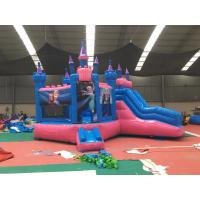 Quality Attractive Bounce House Wet Or Dry Combo / High Durability Frozen Blow Up Castle for sale