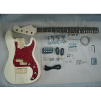 Quality Four String HB Bass DIY Electric Guitar Kits With Pearl Loid Pickguard AG-BS2 for sale