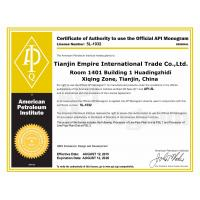 Tianjin Empire International trade Co.,Ltd. Certifications