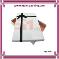 Quality Gift box, white paper gift box, clothing & apparel paper box for sale ME-TB004 for sale