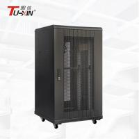 China Floor Standing 22U Half Height Server Rack , 800mm Deep Data Rack Cabinet on sale