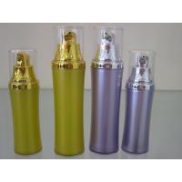 Quality slim waist shaped  dual layer plastic  cosmetic airless bottle 50ml 30ml for sale