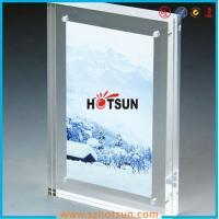 Quality High quality clear square double sided acrylic photo frame with magnets for sale