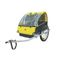 Quality Steel frame Double Baby Bike Trailer with silver powder coating for sale