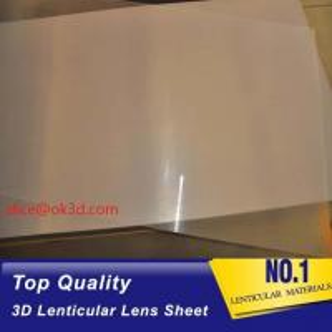 Quality PET thinnest offset lens 0.18mm 200 Lpi, 51x71cm 3D Film Lenticular Lens Sheet for UV offset printer annd injekt prin for sale