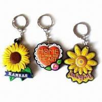 Quality PVC keychain in 3-D shape, eco-friendly material, customized colors and shapes are accepted for sale