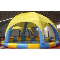 Quality Colorful Bumper Boats Inflatable Water Pool 10m Dia / Inflatable Swimming Pool With Cover for sale