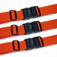 Quality 2 x 78-3/4-inch Luggage Strap/Belt, Various Kinds are Available, OEM Order are Welcome for sale